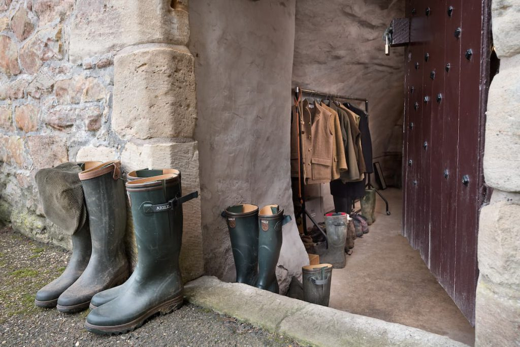 Boot Room at Ferniehirst Castle