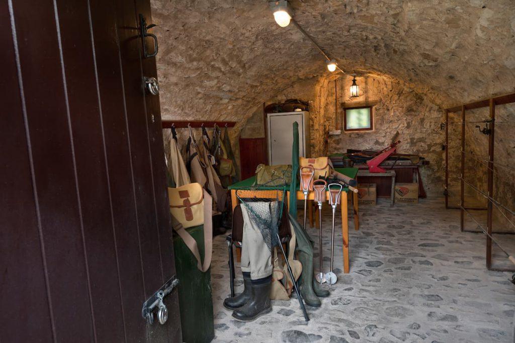 The Gun Room at Ferniehirst Castle
