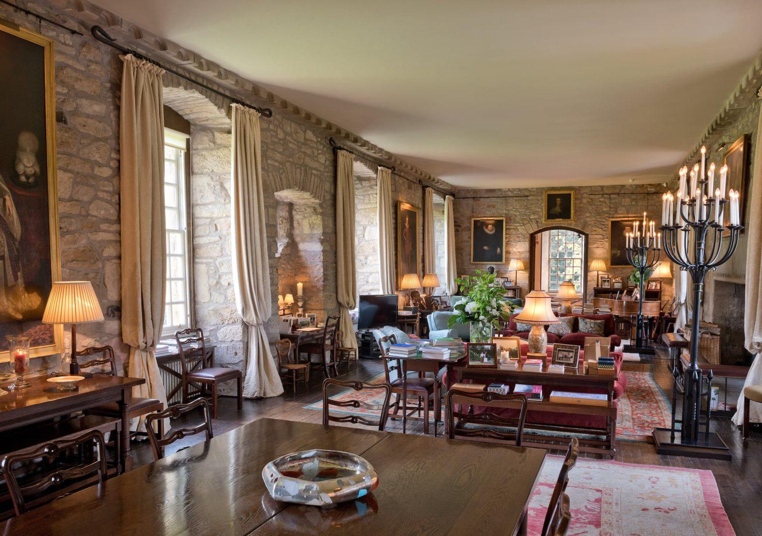 The Long Room - Ferniehirst Castle, Scotland